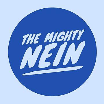 Mighty Nein Retro Logo - Jester Blue by JMendezArt