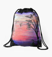 Purple Moon Drawstring Bag
