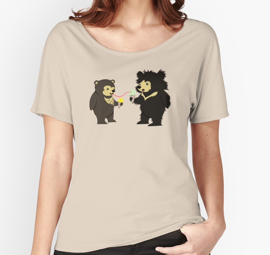 Sun Bear & Sloth Bear Eating Ice Cream Cones by PepomintNarwhal