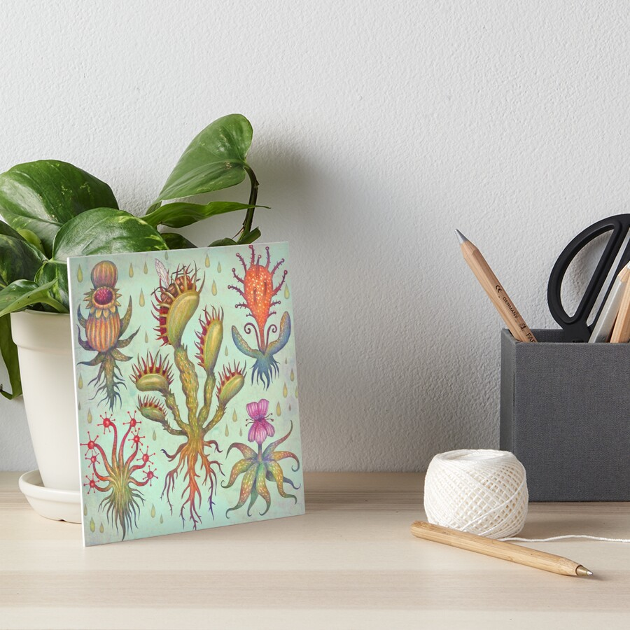 Carnivorous plants Art Board Print