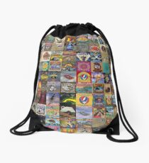 Grateful Dead Album Covers Drawstring Bag