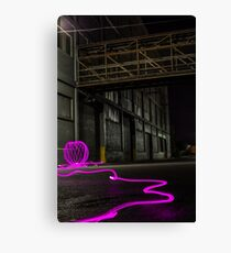 Light Painting Ball Canvas Print