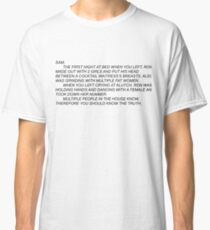 Anonymous Letter To Sammi  Classic T-Shirt