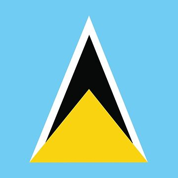 St Lucia National Flag by identiti