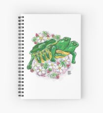 Tortoise with Two Heads and Strawberries Spiral Notebook