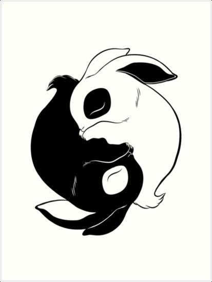 Image result for cute yin n yang bunnies