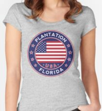 Plantation, Florida Women's Fitted Scoop T-Shirt