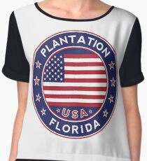 Plantation, Florida Chiffon Top