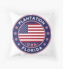 Plantation, Florida Throw Pillow
