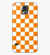 Orange and White Tennessee Vols Checkerboard Case/Skin for Samsung Galaxy