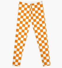 Orange und weißes Tennessee Vols Checkerboard Leggings