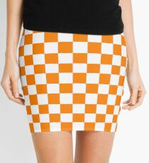 Orange and White Tennessee Vols Checkerboard Mini Skirt