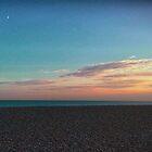 Sunset at the Beach - Folkestone U.K.  by KesiaHosking