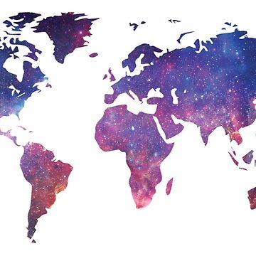 Star Galaxy World Map by BlackCoffeeCake