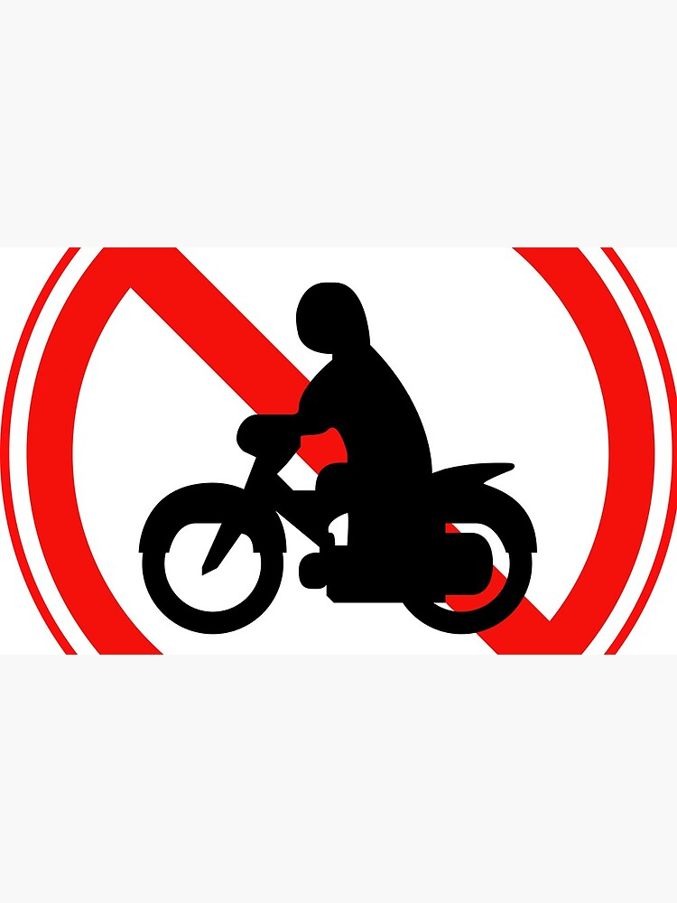 South Korean Traffic sign (No Thoroughfare for Motorcycles) by AsiaHwy