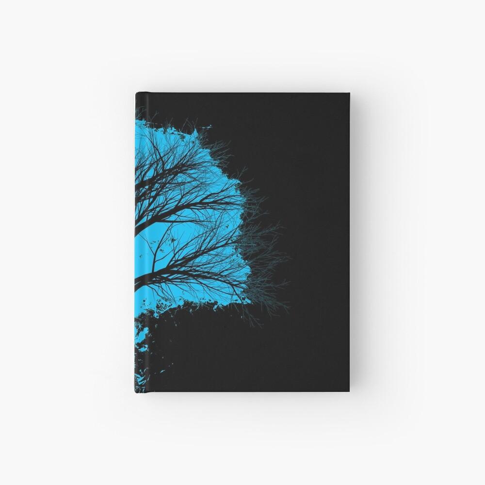 Tree branch lightblue and black silhouette Cuaderno de tapa dura