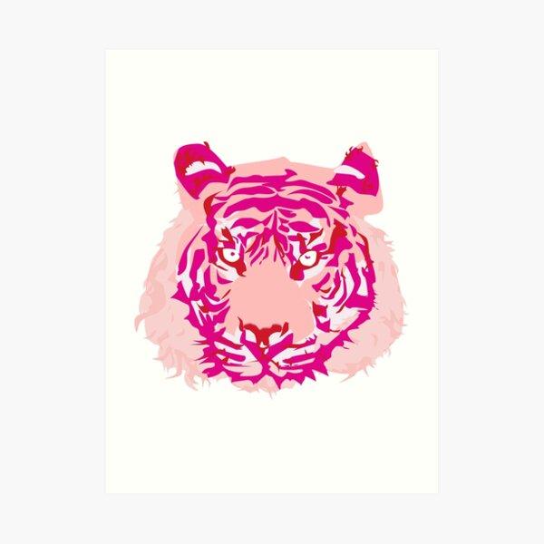 Royal Bengal Tiger: Millennial Pink Prints/Tshirt Art Print