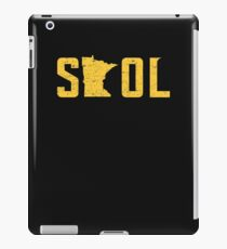 SKOL Helmet Hat Distressed Vintage Nordic Yellow iPad Case/Skin