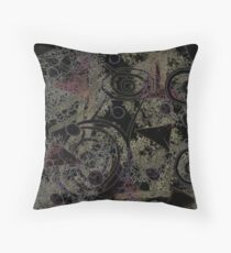 Circles in Black Throw Pillow