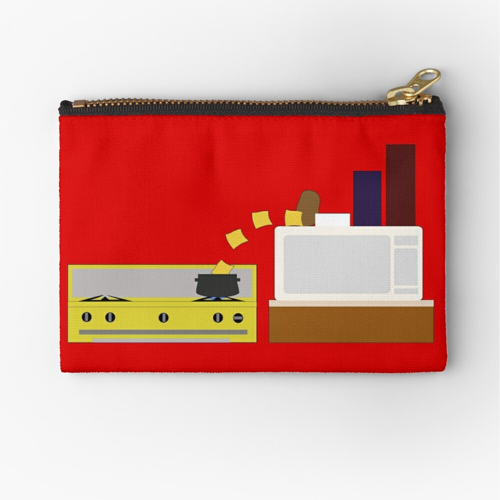 Food Fight - Potato vs Cheese. Zipper Pouch