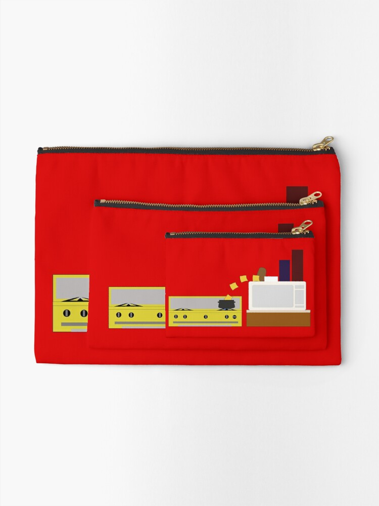 Alternate view of Food Fight - Potato vs Cheese. Zipper Pouch