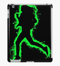 Silhouette fit green and black silhouette iPad Case/Skin