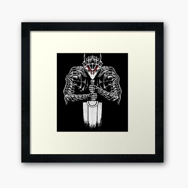 Black Swordsman Framed Art Print