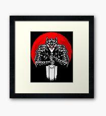 Black Swordsman Framed Print