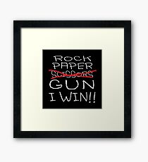 Rock Paper Scissors Gun Framed Print