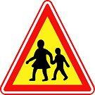 South Korean Traffic sign (Watch out for children) by AsiaHwy