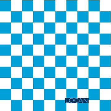 checkerboard | blue by Locan