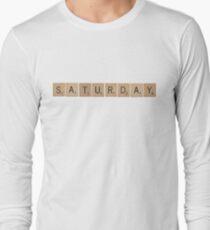Wood Scrabble Saturday! Long Sleeve T-Shirt