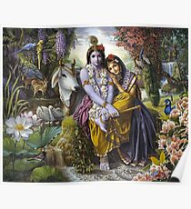 The Divine All-Attractive Couple - Krishna and Radha Poster