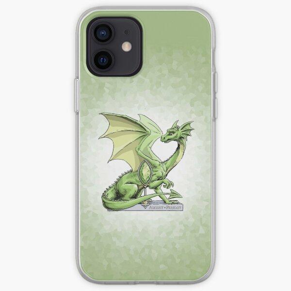 Birthstone Dragon: August Peridot Illustration iPhone Soft Case