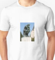 The Thinker by Rodin side-front view Unisex T-Shirt