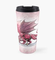Birthstone Dragon: January Garnet Illustration Travel Mug