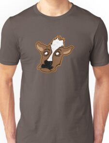 Cowering Cow Unisex T-Shirt