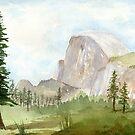 Half Dome- Yosemite by Diane Hall