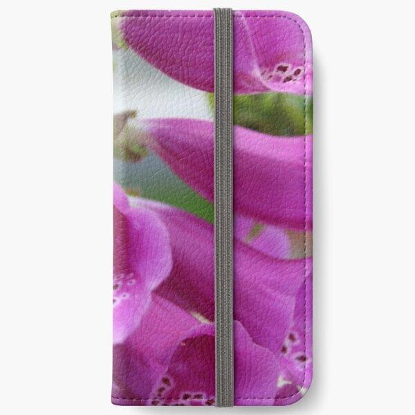 Pretty Pink Foxglove iPhone Wallet
