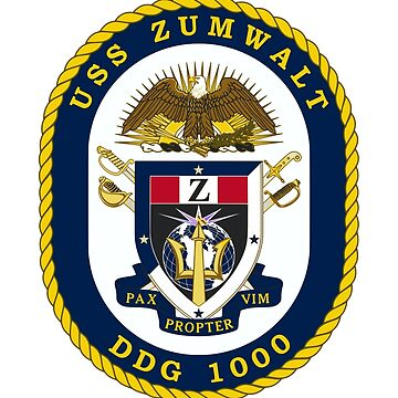 USS Zumwalt (DDG-1000) - US Navy by wordwidesymbols