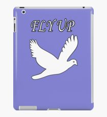 Fly up with white bird love for live iPad Case/Skin