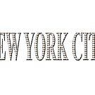 New York City (white type on white) by Ray Warren