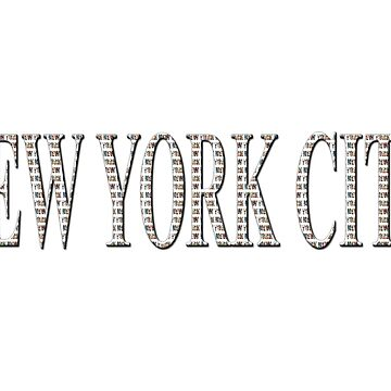 New York City (type in type on white) by RayW