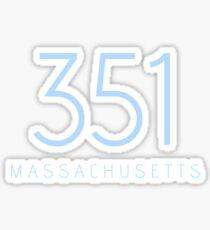 MASSACHUSETTS 351 Sticker