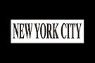 New York City (black type on white plynth with black background) by Ray Warren