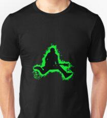 Guitarist jump green and black silhouette Unisex T-Shirt