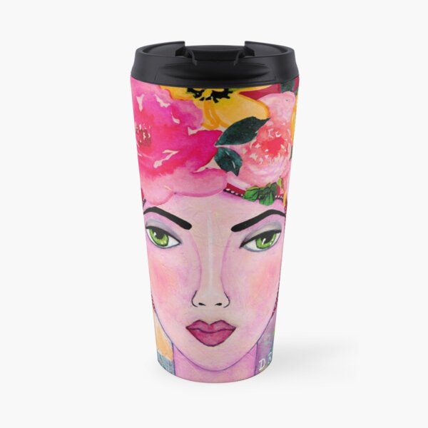 Dreamer Whimsical Portrait Travel Mug
