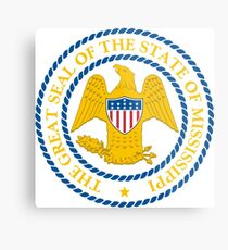 State Seal of Mississippi (1879–2014)   United States Metal Print