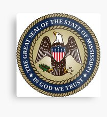 State Seal of Mississippi (2014–present)   United States Metal Print