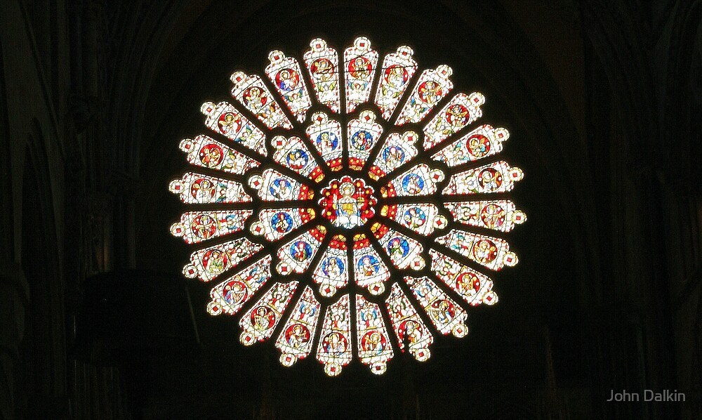 Durham Cathedral Rose Window by John Dalkin